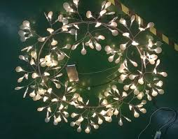 big o heracleum leaves led pendant lamp tree branch chandelier light