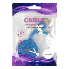 Дата-<b>кабель</b> ПЛОСКИЙ <b>Red Line</b> USB - 8 - pin для <b>Apple</b>