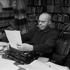stanisław lem age 50 at his typewriter in kraków poland 1971 more