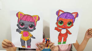 3 Marker Challenge Lol Surprise Doll Coloring Pages For Kids