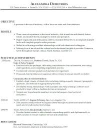 Retail Sales Resume Objective Sales Job Resume Objective Physic