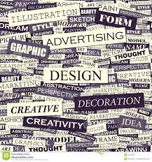 Words Associated With Graphic Design Design Stock Vector Illustration Of Stylized Definition
