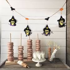 diy halloween decorations home. Sunbeauty Black Fabric Skull Garland Halloween Bunting With Bats Pumpkins DIY Decorations Wall Hanging Home Diy L