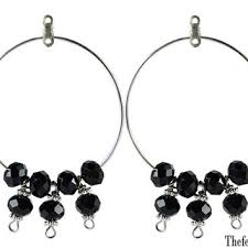 black crystal beaded chandelier earrings chandelier earrings b