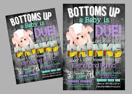 Diaper Shower Invitation Bottoms Up A Baby Is Due Baby Shower Invitation Funny Diaper Etsy