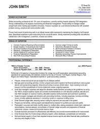 Accountant Resume Sample Simple Senior Accountant Resume Sample Template