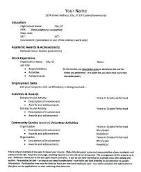 College Activities Resume Template College Application Resume