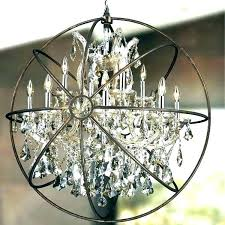 nickel crystal orb chandelier creative of brushed