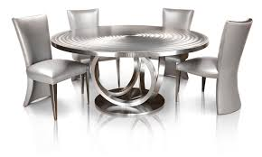 steel kitchen tables catering fresh 66 round stainless steel metal dining table by oios metals