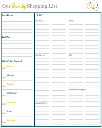 Free Weekly Meal Planner With Grocery List An Organized Grocery List And Free Printables Organization