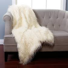 Amazon.com: Best Home Fashion Ivory Mongolian Lamb Faux Fur Throw ... & Amazon.com: Best Home Fashion Ivory Mongolian Lamb Faux Fur Throw Blanket -  58: Home & Kitchen Adamdwight.com
