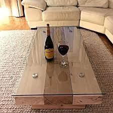 glass topped sleeper coffee table oak
