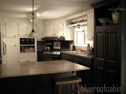 Single Wide Mobile Home Kitchen Remodel Blue Roof Cabin My Sisters Kitchen Is Finished