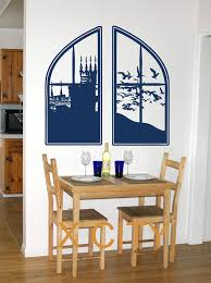 crafty design window wall art best interior giant extra large castle cut vinyl transfer stencil decal stickers artwork uk arched above
