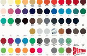 Diy Paint Color Chart Spray Paint Color Choices Valspar Rustoleum And Krylon Diy