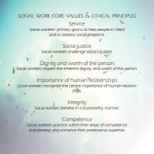 Social Work Values Social Work Core Values And Ethical Principles Words To Live By