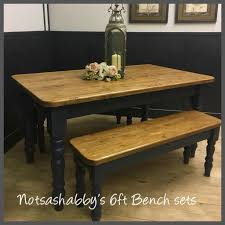 new handmade 5ft solid pine farmhouse table and benches