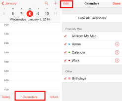 Calendars To Edit Add And Delete Calendars On The Iphone With Ios 7 The