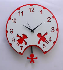clock for kids room kids room wall clock white red by panache online kids  clocks kids