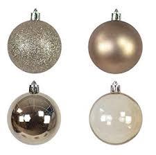 Amazonde 9 Set Weihnachtskugel Champagner Silber Gold