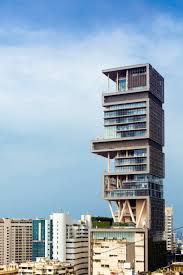 Antilia, the world's most expensive private home, in Mumbai, India.