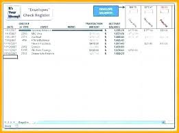 Excel Checking Account Template Check Register Printable Transaction ...