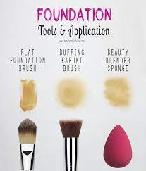 foundation tools application beauty