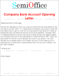 With which his pay account is salaried account opening letter. Company Bank Account Opening Request Letter To Branch Manager