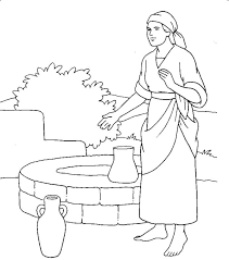 Small Picture Woman At The Well Coloring Pages AZ Coloring Pages Bible Woman