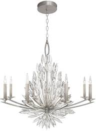 fine art lamps 881240st lily buds silver leaf hanging chandelier loading zoom