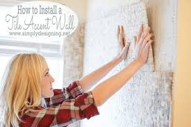 install a tile accent wall in a day