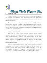 fish farming business proposal expense