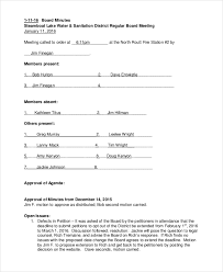 Annual Meeting Minutes Template 10 Word Pdf Document