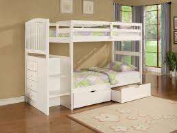 ... Unique Girls Bunk Beds for Your Kids : Simple Girl Bunk Bed Twin Beds  Glossy Wooden ...