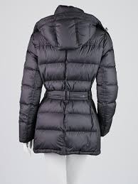 burberry brit black quilted polyester mareton down jacket size m