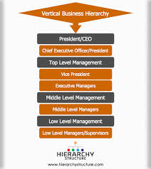 Hierarchy Of Vertical Business Structure