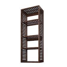 allen roth 23 75 in w x 16 in d x 76 in h java wood closet tower