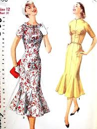 1950s Dress Patterns Delectable 48s GLAMOROUS Figure Molding Dress Day Or Evening Pattern