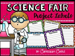 science fair headings printable science fair project labels freebie by curriculum castle tpt