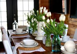 dining room fresh flower arrangements for small decoration ideas decorating