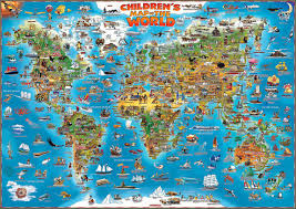 children's map of the world  ancient world  front  new product