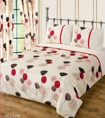 red wine cream colour bedding duvet cover set stylish poppy fl modern design