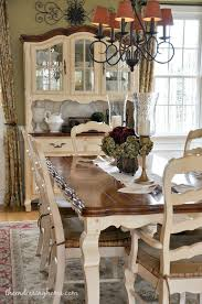 French country dining room furniture Rustic Dark Tabletop With Cream Base And Cream Chairs With Fabric Seat 88 Stunning Fancy French Country Dining Room Decor Ideas 88homedecor Country Pinterest Dining Room Updates French Quarters Pinterest Country Dining
