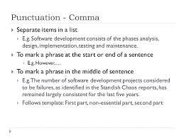 academic writing the mechanics ppt  5 punctuation
