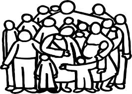 Small Picture Church Family People Outline Coloring Page Wecoloringpage