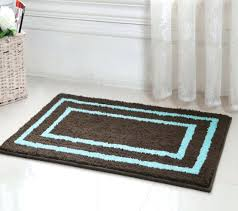 brown bath rugs blue and rug home design ideas for light bathroom round