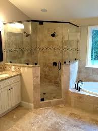 large shower bathroom ideas garden tub corner glass dual heads