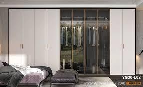 black laminate sliding wardrobe yg17