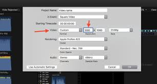 how to create a video how to create a square video in final cut pro x pinch of nom