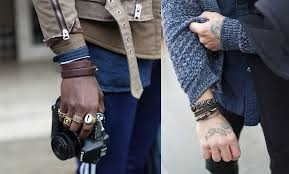 like metal leather is masculine and its formalities can be played around with wider cuffs are seen as more casual while finer thinner bracelet types are